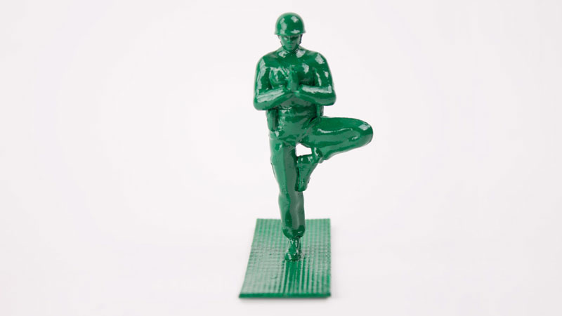 Yoga Joes Little Plastic Green Army Men Doing Yoga (12)