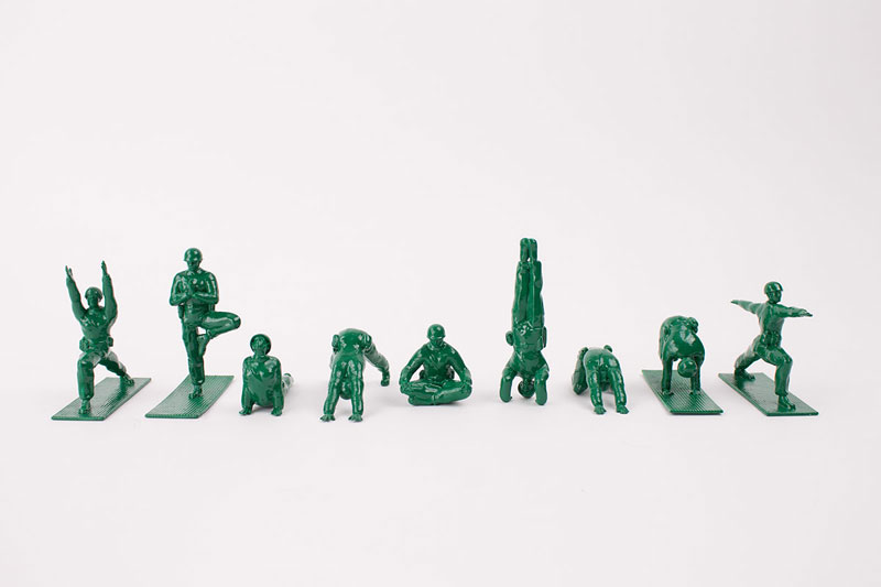 Yoga Joes Little Plastic Green Army Men Doing Yoga (13)