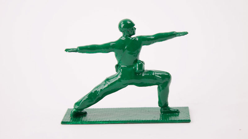 Yoga Joes Little Plastic Green Army Men Doing Yoga (4)