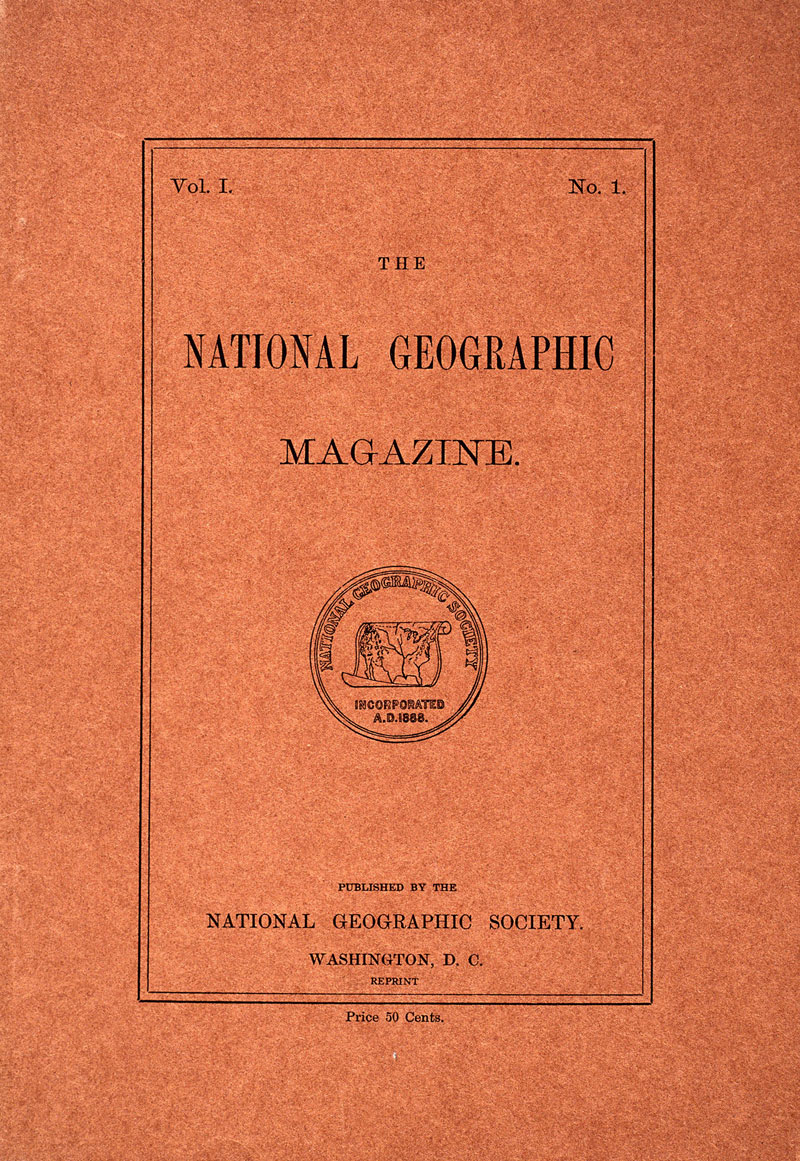 001 1888 first cover1 5 Famous National Geographic Covers