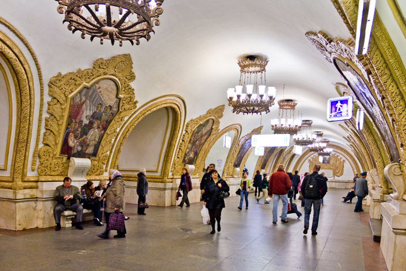 The Moscow Metro Has Some Beautiful Stations