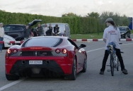 Rocket-Powered Bicycle Beats Ferrari, Reaches Top Speed of 207 mph