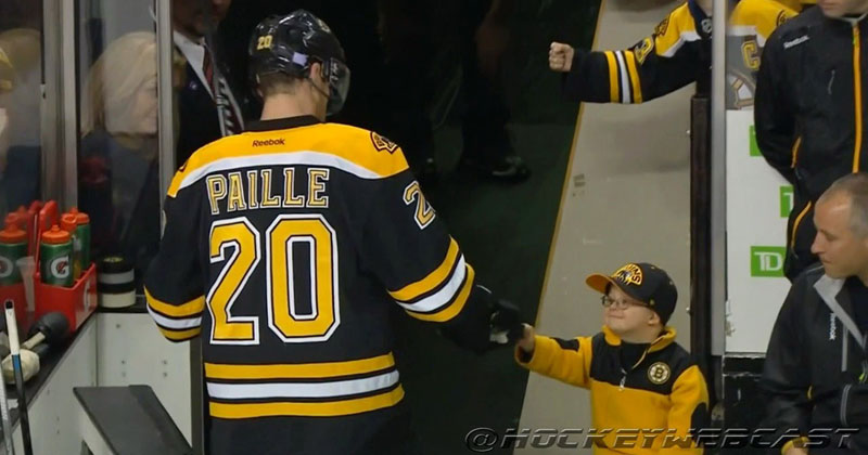 Boy with Down Syndrome Beats Leukemia, Fist Bumps with the Boston Bruins