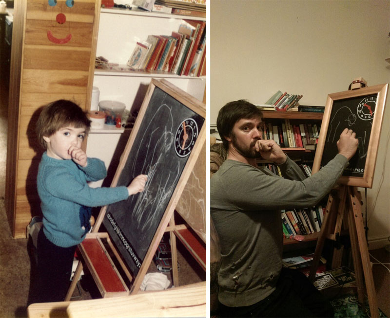 brothers recreate childhood photos for parents wedding anniversary (4)
