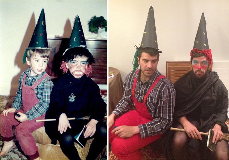 brothers recreate childhood photos for parents wedding anniversary (5)