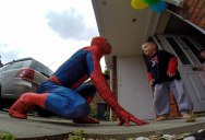 Dad Dresses as Spider-Man to Surprise 5-Year-Old Son Battling Cancer
