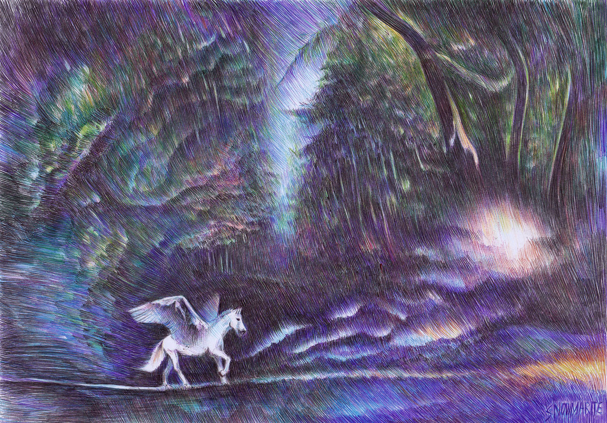 free spirit by snowmarite d86mvo8 Beautiful Ballpoint Pen Drawings by Marite Desaine