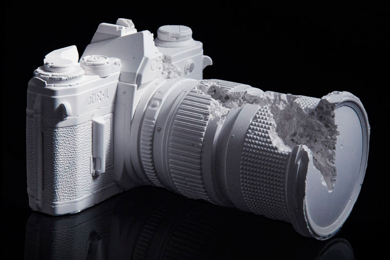 future relics camera fossil by daniel arsham Picture of the Day: Camera Fossil