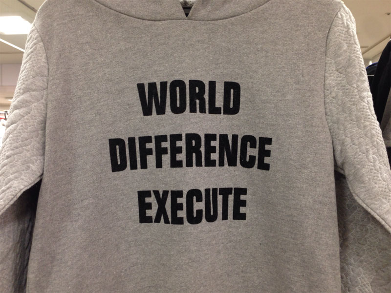 Japanese Discount Store Shirts with Random English Words (4)