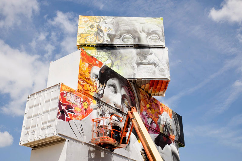 shipping container gods graffiti street art by pichi and avo north west walls belgium 2014 (4)