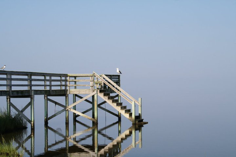 sky blending into water outer banks north carolina Picture of the Day: Sky Blends Seamlessly with the Water