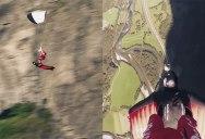 Skydiver and Wingsuit Pilot Pull Off Insane Flying Carpet Stunt