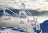 Picture of the Day: Snow-Covered Ski Lift in Sweden