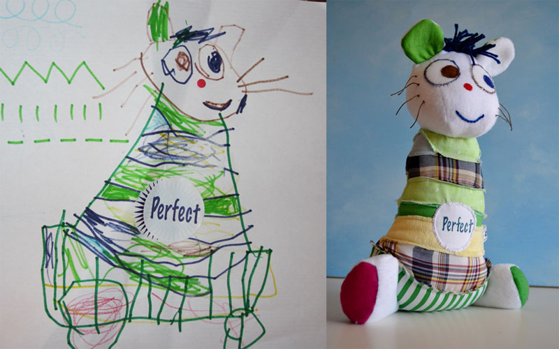 turning kids drawings into plush toys by childs own studio wendy tsao (9)
