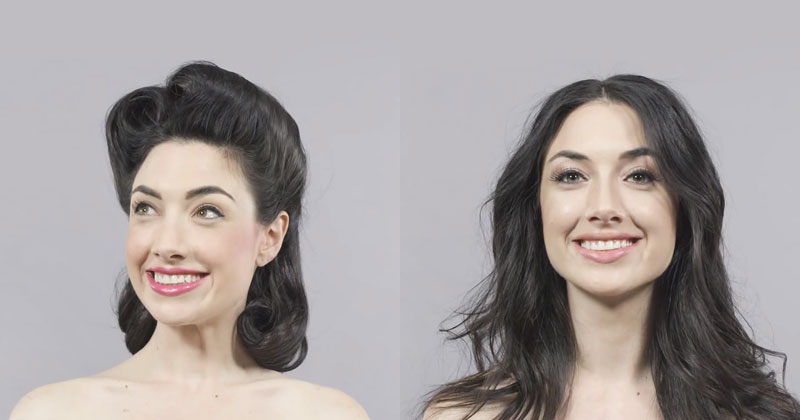 100 Years of Hair and Makeup in a Single Minute