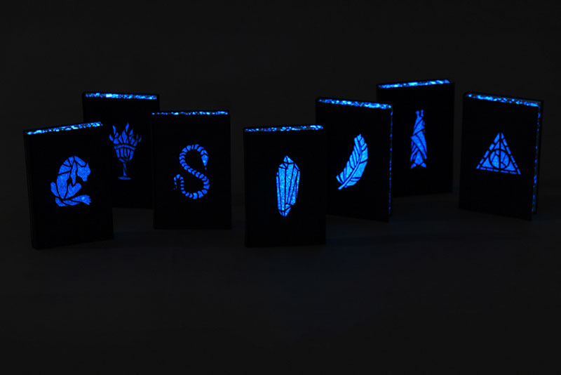 Artist Designs Glow in the Dark Harry Potter Books with Pop-Up Illustrations