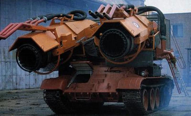 Engineers Retrofit a Tank with Jet Engines to Fight Oil Fires