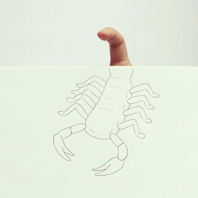 Clever Finger Doodles by Javier Perez (1)