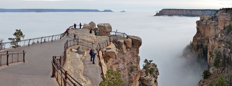 grand canyon filled with clouds inversion 2014 (4)