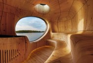 A Grotto Sauna on the Lake