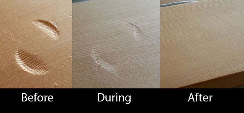 how to remove a dent from wood with an iron 6 Amazing Wedding Ring Restoration After Falling Into Garbage Disposal