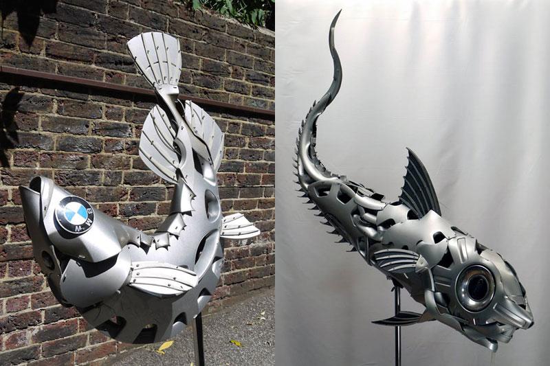 hubcap animal sculptures by ptolemy elrington (1)