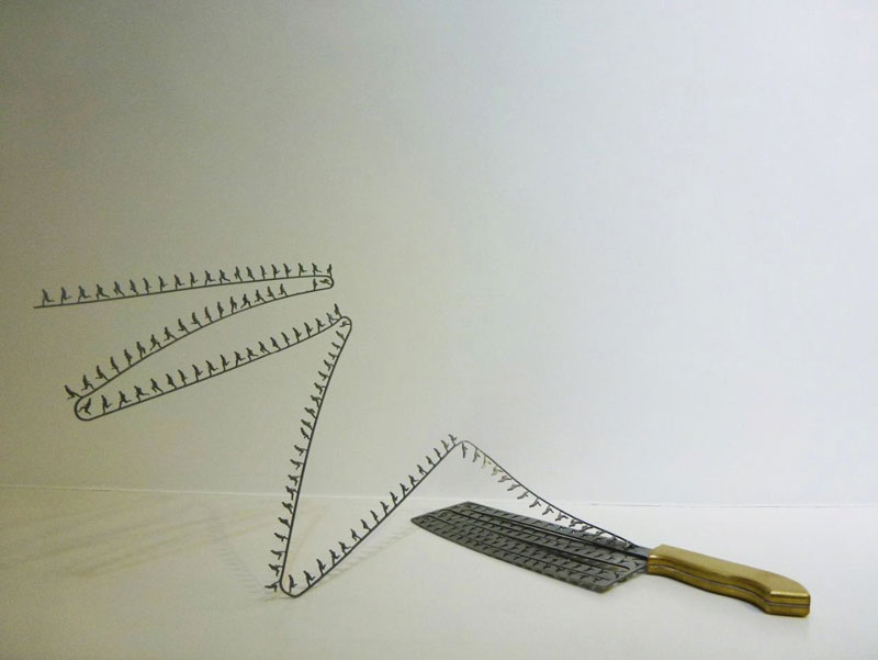 sculptures cut from the blades of knives li hongbo (3)