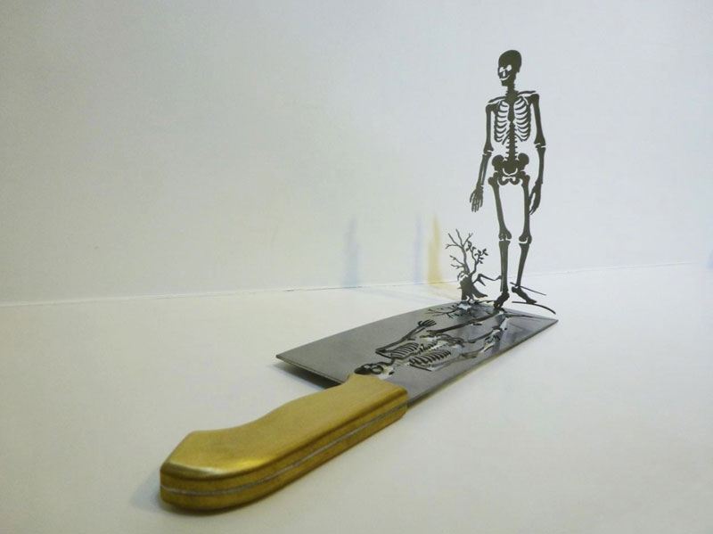 sculptures cut from the blades of knives li hongbo (9)