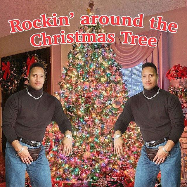 the rock merry christmas dwayne johnson Picture of the Day: Merry Christmas from The Rock