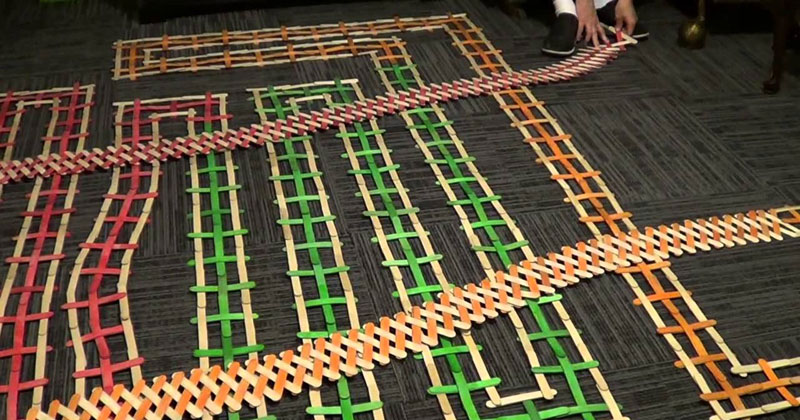 If Dominoes Fall, then Stick Bombs Explode. Here's 13,654 of Them