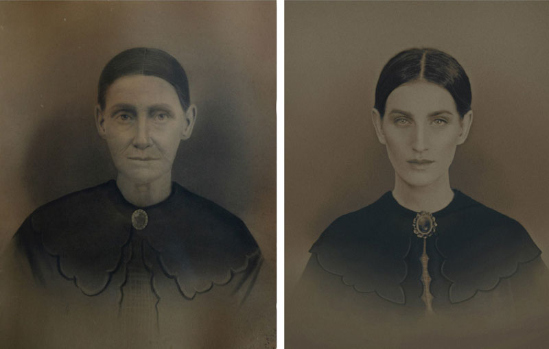 christine mcconnell Recreates Six Generations of Family Portraits Dating Back 200 Years (6)