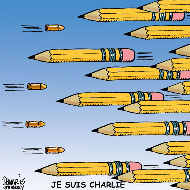 comics in memory of charlie hebdo 21 Artists Around the World Respond to the Charlie Hebdo Attack in the Best Way Possible