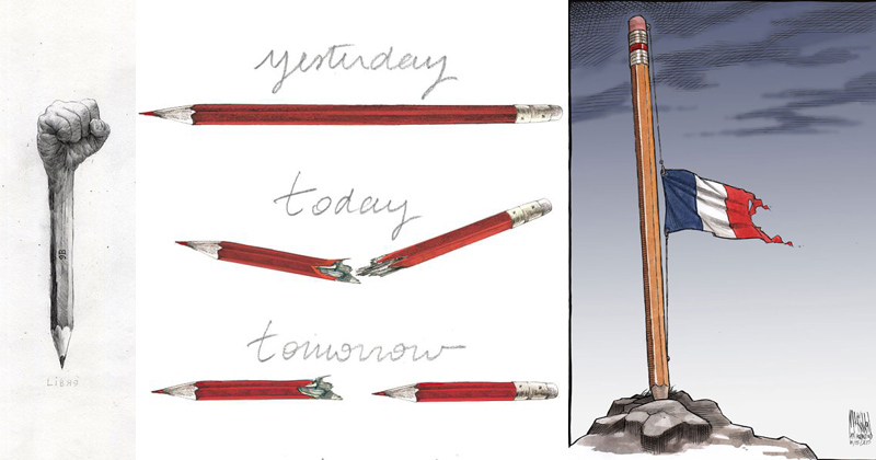 Artists Around the World Respond to the Charlie Hebdo Attack in the Best Way Possible