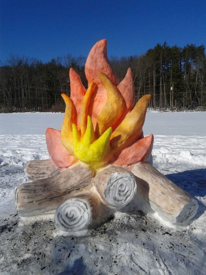 Giant Fire and Marshmallow Out of Snow by shaffer art studio (2)