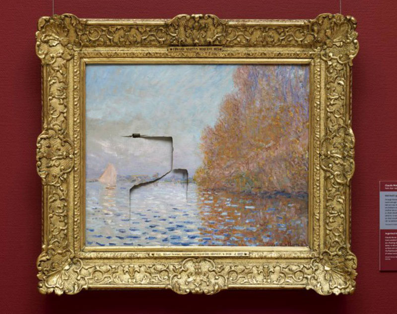 Repairing a $12 Million Monet After It Has Been Punched