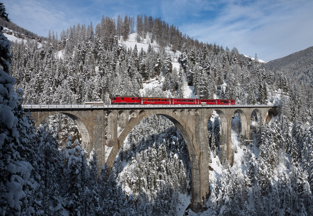 Picture of the Day: Winter at the Wiesen Viaduct
