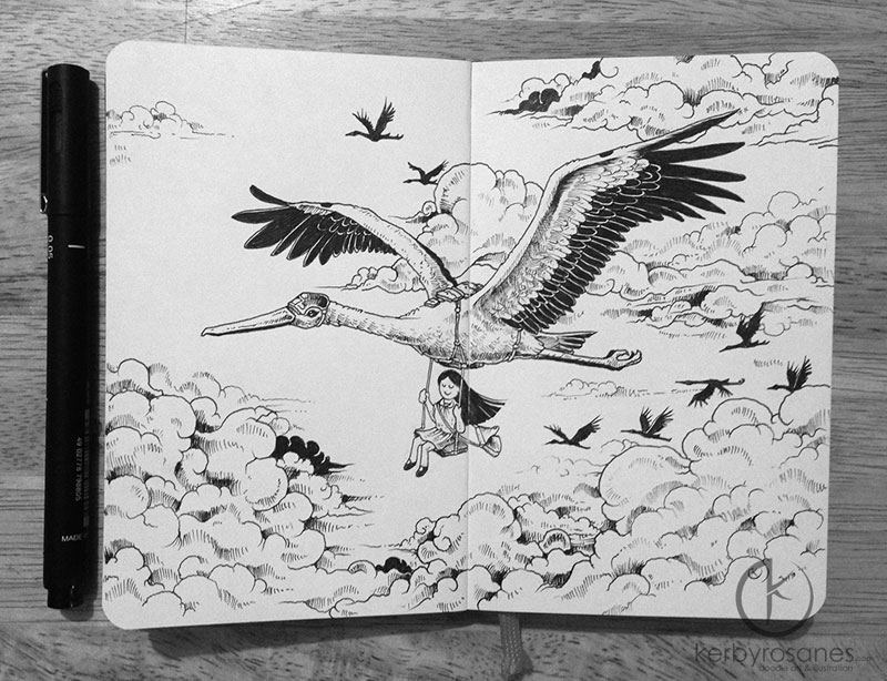 The Amazing Moleskine Sketchbook of Kerby Rosanes (1)