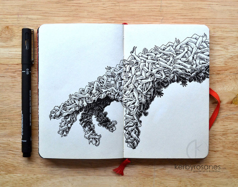 The Amazing Moleskine Sketchbook of Kerby Rosanes (8)