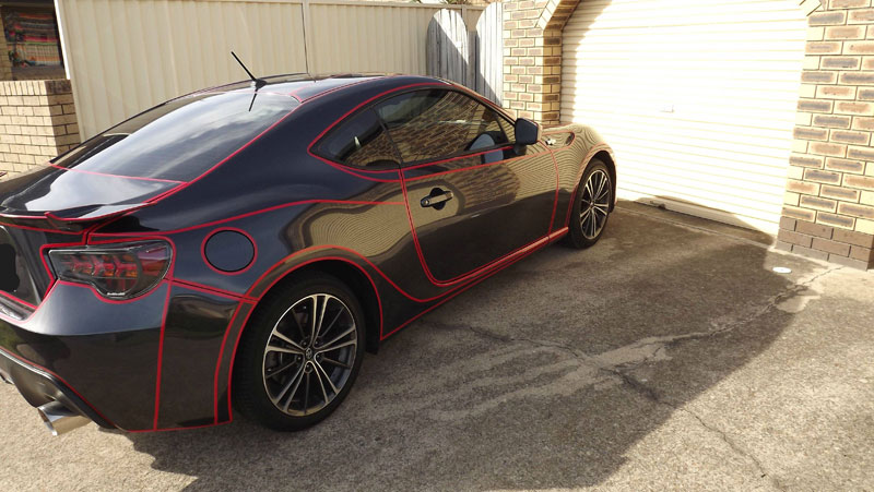 this guy made a tron car using reflective vinyl tape (1)