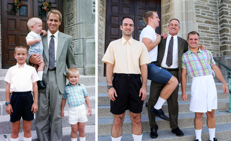 Three Brothers and their Dad Make a Calendar of Recreated Photos for Mom (2)