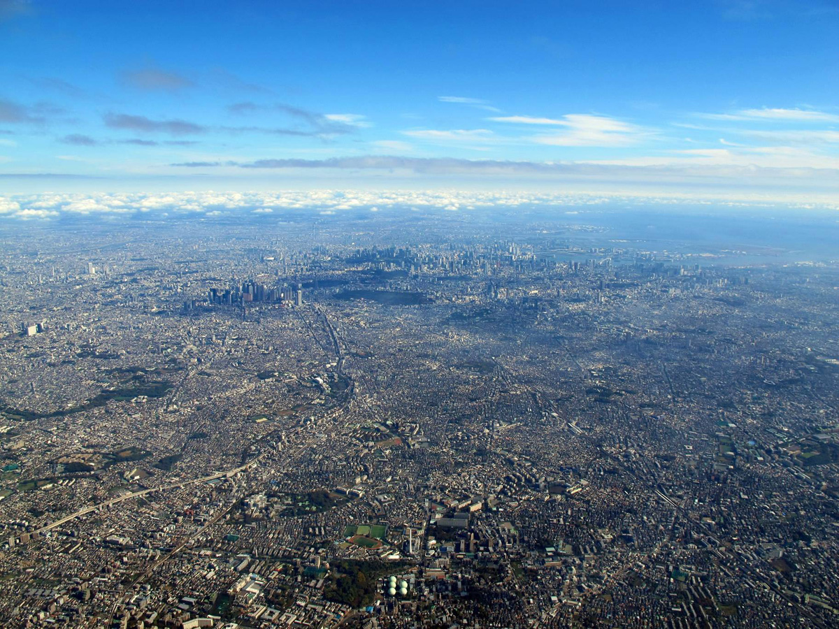 tokyo aerial from above sprawl Picture of the Day: The Tokyo Metropolis from Above