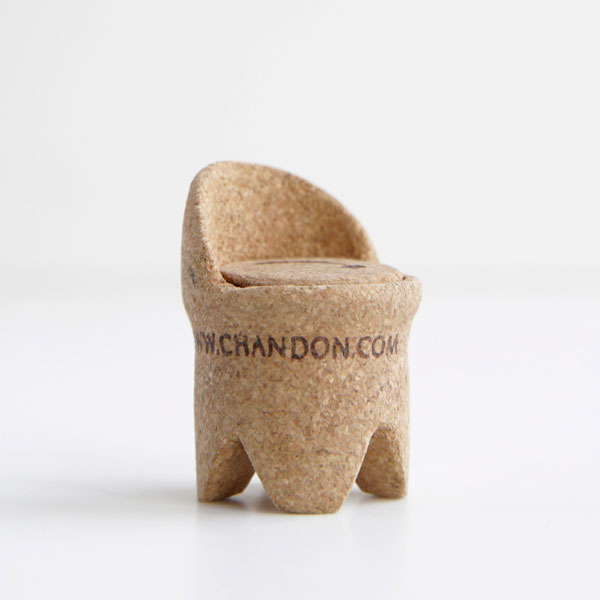1st winners 17 Miniature Chairs Made from Champagne Corks