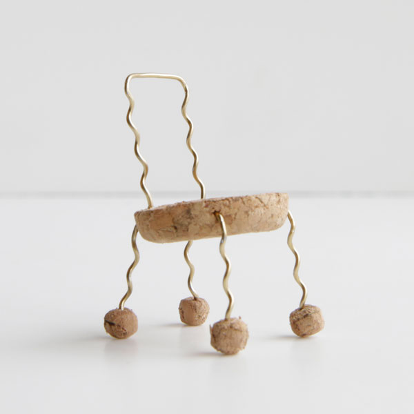 2nd winners 17 Miniature Chairs Made from Champagne Corks