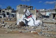 Banksy's First Art Project of 2015 was a Trip to Gaza