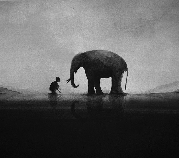 black-and-white-watercolor-paintings-by-elicia-edijanto-(3)