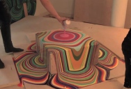 Hypnotic Time-Lapse Shows Psychedelic Result of Paint Poured Onto Blocks