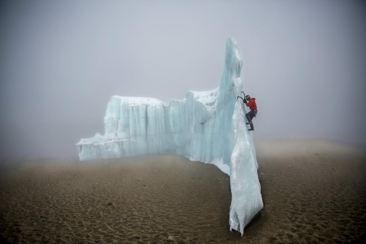ice climbing at the summit of kilimanjaro will gadd red bull (6)