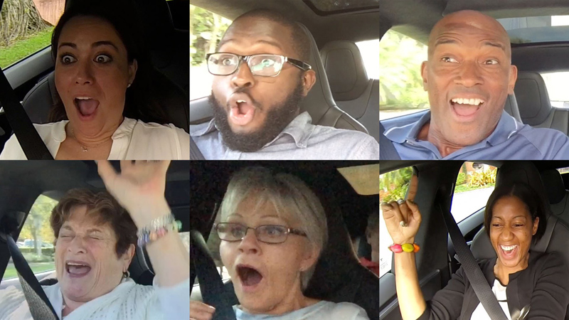 Passenger Reactions to Going from 0-60 in the World's Fastest 4 Door Sedan