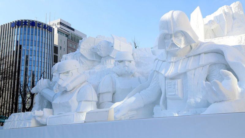 star wars darth vader snow sculpture japan 2 May the Sports Be With You [5 Photos]
