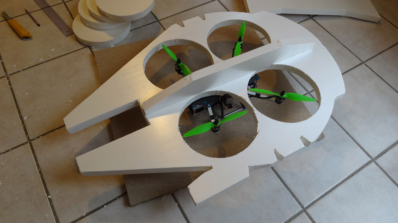 This Guy Built a Millennium Falcon Quadcopter and It's Awesome (6)
